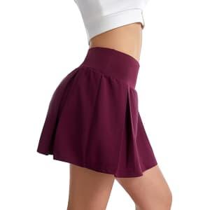 Ubfen Women's Pleated Tennis Skirt for $12