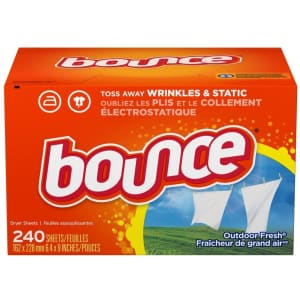 Bounce Fabric Softener Sheets 240-Pack for $7