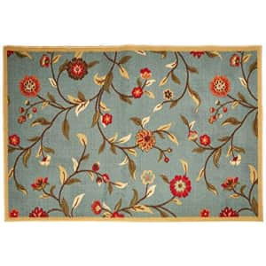 """Ottomanson OTH2095-3X5 Ottohome Rug, 3'3"""" X 5'0"""", Sage Green Floral for $33"""