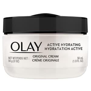 Olay Active Hydrating Cream 1.9-oz. Face Moisturizer for $4.32 via Sub. & Save