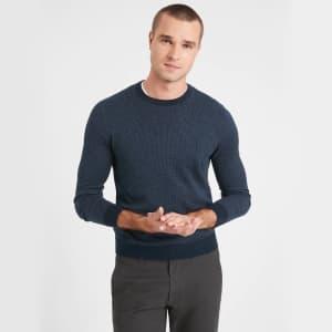 Banana Republic Factory Men's Birdseye Crew-Neck Sweater for $9.99 in cart