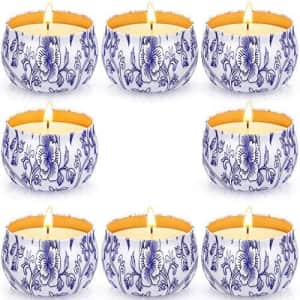 Arosky Citronella Scented Candle 8-Pack for $12