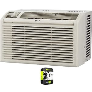 LG LW5016 5000 BTU Window Air Conditioner with Manual Controls Bundle with 1 Year Extended for $199