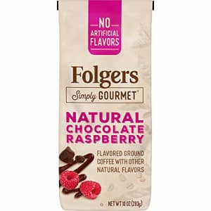 Folgers Simply Gourmet Natural Chocolate Raspberry Flavored Ground Coffee, 10 Ounces for $35
