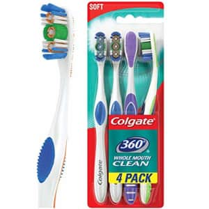 Colgate 360 Adult Full Head Soft Toothbrush - 4 Count for $13