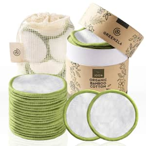 Greenzla Reusable Makeup Remover Pads 20-Pack for $10