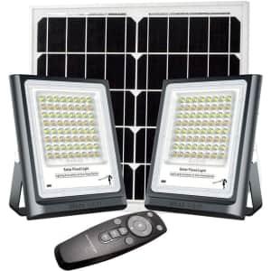 X-Harmo LED Solar Flood Light 2-Pack for $68