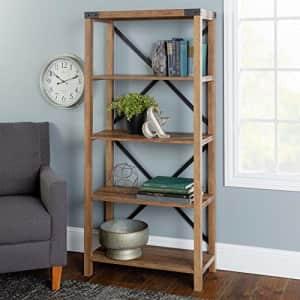 Walker Edison Furniture Company Modern Farmhouse Wood Bookcase Bookshelf Home Office Living Room for $176