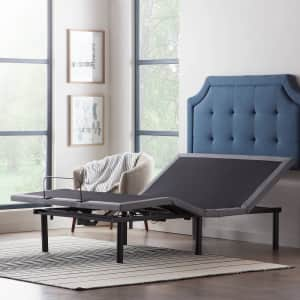 Lucid Comfort Collection Deluxe Adjustable Queen Bed Base for $467