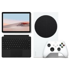 Xbox Series S + Microsoft Surface Go 2 w/ Surface Go Type Cover Bundle for $760