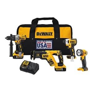 DEWALT 20V MAX XR Cordless Drill Combo Kit, 4-Tool (DCK494P2) for $649