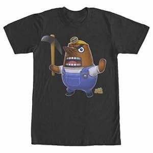Nintendo Men's Animal Crossing New Leaf Resetti T-Shirt, Black, XXXX-Large for $18