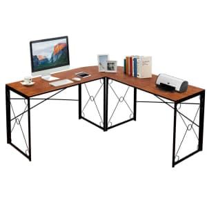 "Vecelo 59"" x 59"" L Shaped Computer Corner Desk for $76"