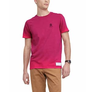 Tommy Hilfiger Men's 35th Anniversary Short Sleeve T Shirt, RED Magic, X-Large for $19