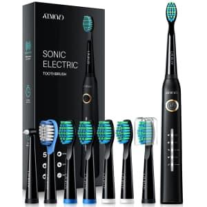 Atmoko Electric Toothbrush w/ 8 Brush Heads for $23