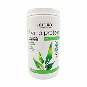 Nutiva Organic Cold-Pressed Hemp Seed Protein Powder, 15G Protein, 16 Ounce for $24
