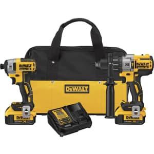 DeWalt 20V Max XR Li-ion Hammer Drill & Impact Driver Set for $299 in cart