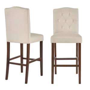 StyleWell Beckridge Upholstered Bar Stool 2-Pack for $151