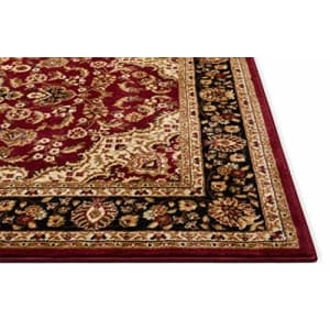 Well Woven Barclay Medallion Kashan Red Traditional Area Rug 2'7'' X 9'6'' Runner for $42