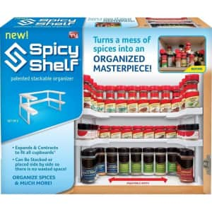 Spicy Shelf Spice Rack and Stackable Organizer for $20