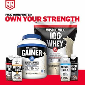 Muscle Milk Genuine Protein Powder, Cookies 'N Crme, 32g Protein, 2.47 Pound, 16 Servings for $30