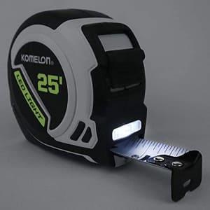 Komelon LED Light Tape Measure, White/Black - 25ft. - 25LED (2 Pack) for $80