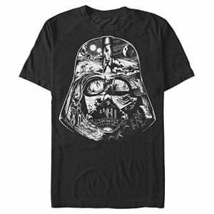 STAR WARS Men's Vader Visual Story T-Shirt, Black, X-Large for $15