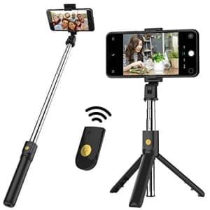 Bytwj Bluetooth Selfie Stick Tripod for $11