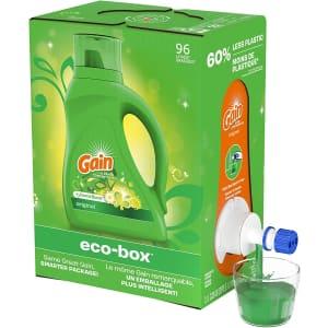 Gain Liquid 96-Load Laundry Detergent Soap Eco-Box for $10 via Sub & Save