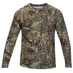 Hurley Men's Quick Dry Realtree Long Sleeve Shirt, Brown (Edge Camo), Medium for $29