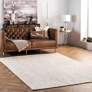 nuLOOM Rigo Hand Woven Jute Area Rug, 6' x 9', Off-white for $233