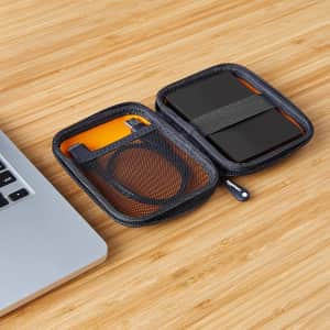 Amazon Basics Small Portable Hard Drive Carrying Case for $8
