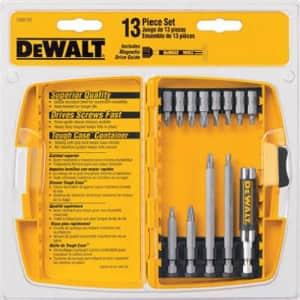 DEWALT DW2160 Bit Tip Assortment with Bit Tip Driver Set, 13-Piece for $10