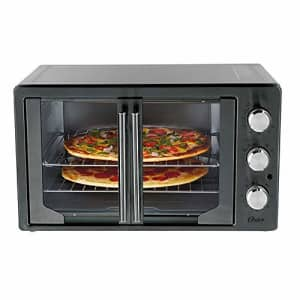 Oster 31160840 Extra Large Single Door Pull French Door Turbo Convection Toaster Oven with 2 for $150