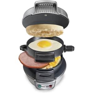 Hamilton Beach Breakfast Sandwich Maker for $25