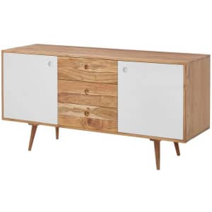 """Home Decorators Collection 55"""" Solid Wood Storage Buffet Table / Sideboard for $247"""