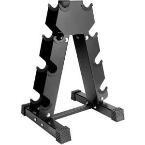 Uprimu A-Frame Dumbbell Rack for $37