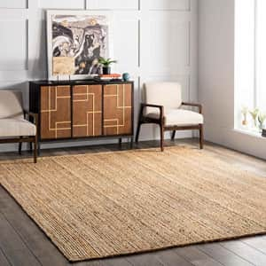 """nuLOOM Rigo Hand Woven Jute Accent Rug, 2' 3"""" x 4', Natural for $30"""