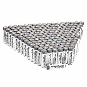 Amazon Basics 300 Pack AA Industrial Alkaline Batteries, 5-Year Shelf Life, Easy to Open Value Pack for $66