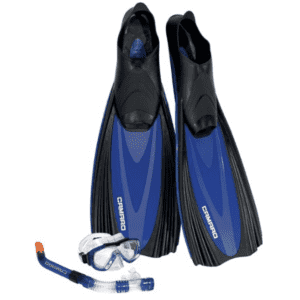 Camaro Professional Complete Snorkel, Mask, and Fin Set for $55