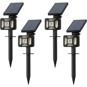iMaihom Solar Landscape Spotlights 4-Pack for $16
