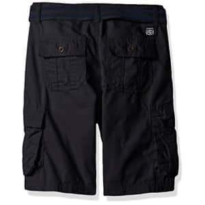 Southpole Boys' Belted Mini Canvas Cargo Shorts in Various Colors, New Navy, 8 for $15