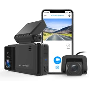 Auto-Vox 1080p WiFi Dual Dash Camera for $140