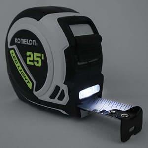 Komelon LED Light Tape Measure, White/Black for $20