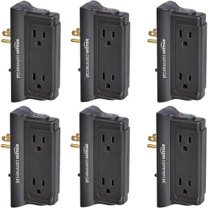 AmazonCommercial Mounted Wall Adapter Tap Surge Protector 6-Pack for $44