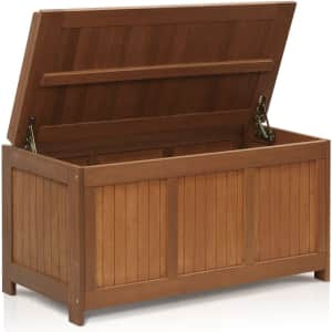 Furinno Tioman Outdoor Patio Hardwood Deck Box for $175