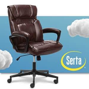 Serta Hannah Microfiber Office Chair with Headrest Pillow, Adjustable Ergonomic with Lumbar for $252