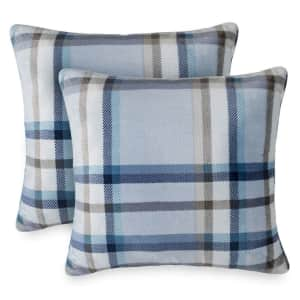 The Big One Printed Plush Throw Pillow 2-Pack for $10