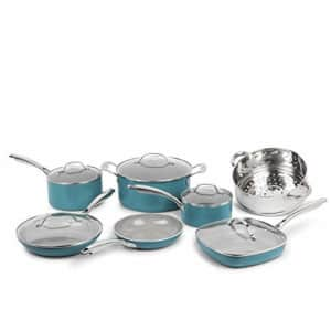 GOTHAM STEEL Pots and Pans 12 Piece Cookware Set with Ultra Nonstick Ceramic Coating by Chef Daniel for $107