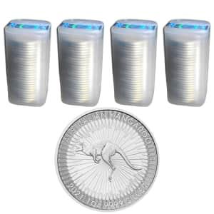 2021 1-oz. Australian Silver Kangaroo 100-Pack for $2,836